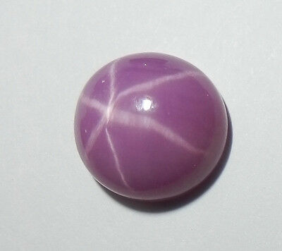 Opaque Star Ruby Round 10 mm Flat Cabochon 6 Rayed Lab-created Stone