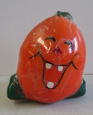 """Vintage Sealed Topstone Industries Laughing Pumpkin Halloween Fall 4"""" Candle"""