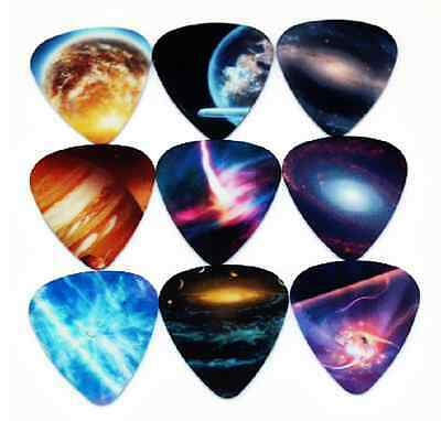 Assorted Galaxy Space Universe Guitar Picks Lot of 10 .46 mm Free Tracking New
