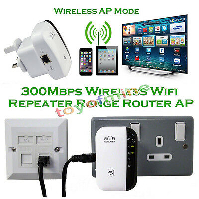 300Mbps Wifi Repeater Wireless N 802.11 AP Range Router Extender Booster