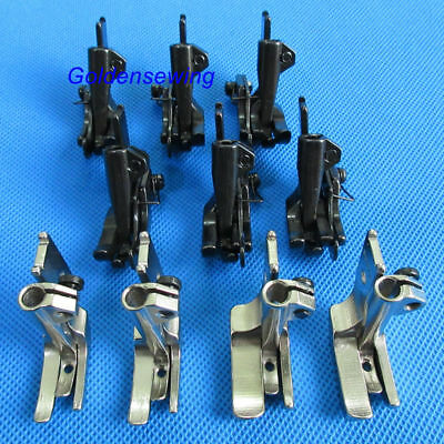 10 SETS PIPING & WALKING FOOT with R & L EDGE GUIDE for JUKI DNU-1541,241 LU-563
