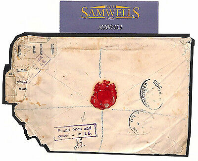 MS451 1902 GB Registered Mail DAMAGED IN TRANSIT London Cover Newport Mon RARE