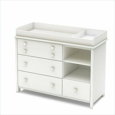 South Shore Little Smileys 4 Drawer Changing Table in Pure White