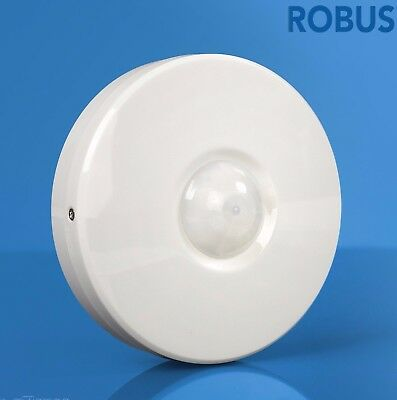 Robus R360N Motion Detector 360°Surface IP20 110mm x 40mm White Room PIR Sensor