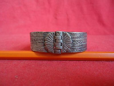 VINTAGE OLD ETHNIC TURKISH OTTOMAN SILVER BRACELET WOMEN'S-1850's