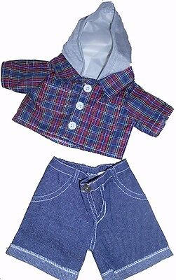 """Skater Hoodie & Jeans outfit teddy Bear clothes fits 15"""" Build a Bear"""