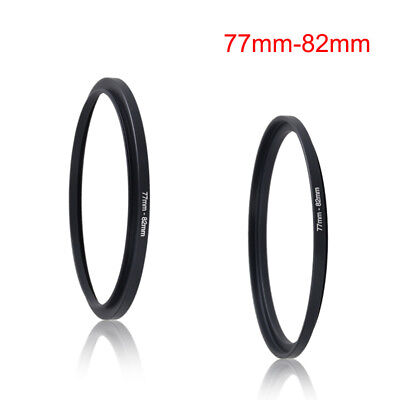 Black 77-82mm 77mm-82mm 77 to 82 Metal Step Up Lens Filter Ring Stepping Adapter