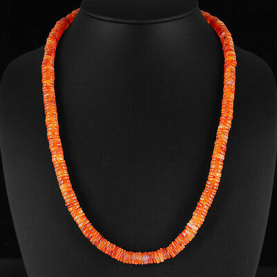 270.00 Cts Natural Untreated Rich Orange Carnelian Round Shape Beads Necklace
