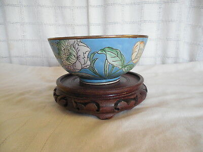 Lovely Chinese, Asian cloisonne floral bowl 6""