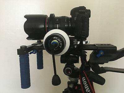 Dslr Shoulder Rig With Follow Focus And Chest Support