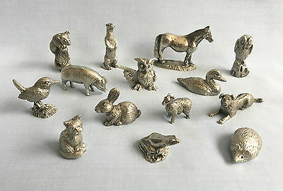 Merlin English pewter collectable animals cat/frog/pig etc - choose 1 u want