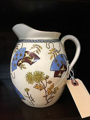 "Antique Aesthetic Movement Pitcher 6"" Diamond Stamp Pre-1865 Signed"