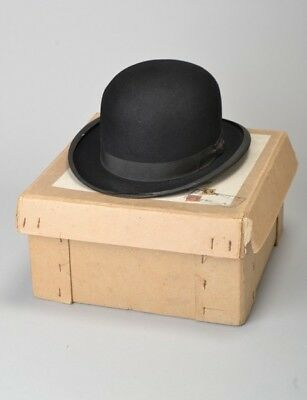 City Gentlemans 1930s' s6 7/8 Boxed Lincoln Bennett  Lightweight Bowler Hat. BFH