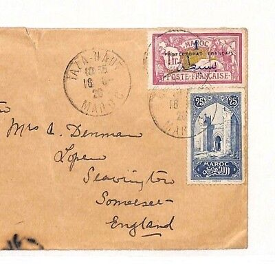 AH11 1926 France Colonies MOROCCO *Taza Haut* CDS Cover Somerset {samwells} PTS