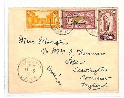 AH12 1928 Morocco Taza Haut Cover Somerset GB {samwells-covers} PTS