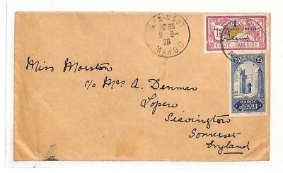 AH13 1926 Morocco Taza Haut Cover Somerset GB {samwells-covers} PTS