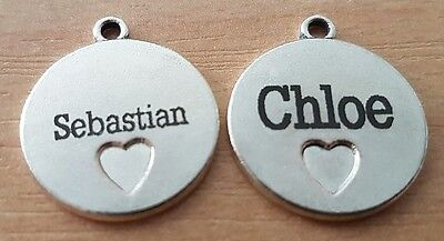 Dog and Cat Pet ID Tag Personalised Engraving Comfortable size 20mm + Free Ring