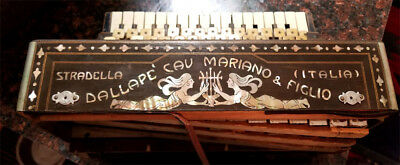 ANTIQUE ACCORDIAN: DALLAPE CAV MARIANO & FIGLIO (Stradellia Italia) & Orig. Case