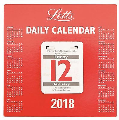 Daily Tear Off Calendar Day Per Page 2018 (KFDTO18)