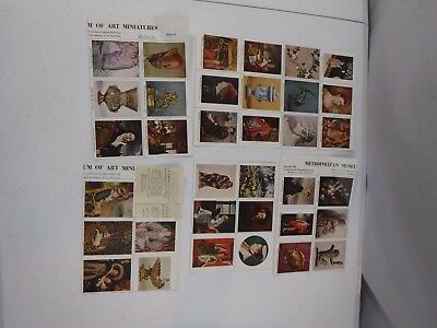 1948/1949 Stamps Metropolitan Museum of Art Miniatures Series Unused