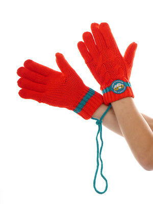 O`Neill Glove Finger Gloves Knitted Glove Knit Red Braid Pattern
