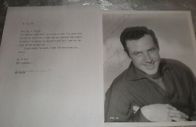 REX REASON - AUTOGRAPHED PHOTO & TYPED & HAND SIGNED LETTER - This Island Earth