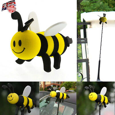 Car Antenna Toppers Smiley Honey Bumble Bee Aerial Ball Antenna Topper UK STOCK