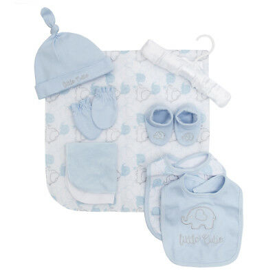9 Piece Baby Boy Girl Gift Set Newborn Clothing Outfit Embroidery Print