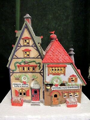 Dept 56 North Pole ~ Obbie's Books & Letrinka's Candy ~ Mint In Box 56243