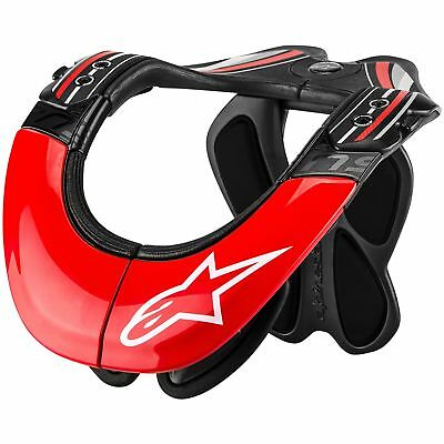 Alpinestars BNS Tech Carbon Neck Support Anthracite/Red/White