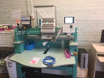 TAJIMA TFMX-C1501 embroidery machine with a SEIT laser. Software also available