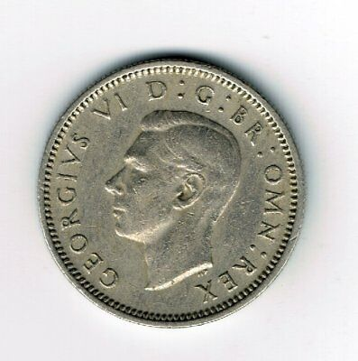 1952 sixpence 6d coin  - George VI