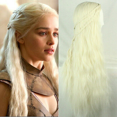 Game of Thrones Daenerys Targaryen Braids Costume Cosplay Wigs Party Fancy Dress