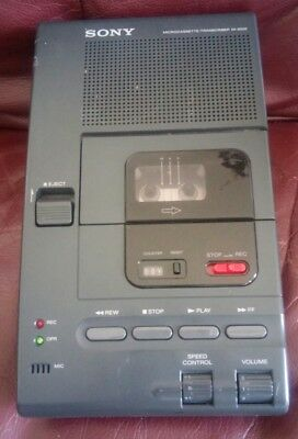Sony M-2000 Microcassette Transcriber, NO Power Adapter, NO Foot Pedal