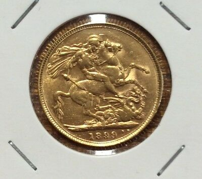 1899P sovereign - gEF scarce date