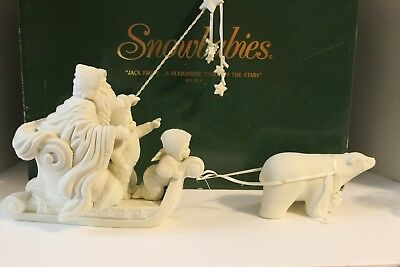 snowbabies dept 56 jack frost a sleigh ride through the stars set 2, 1 missing