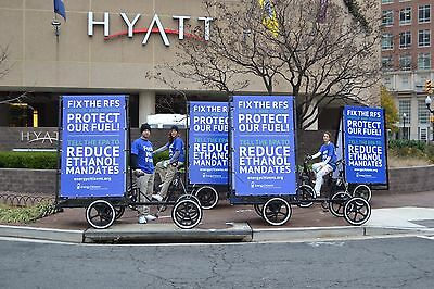 Four Mobile Billboard Advertising 4 Wheel Pedal Bikes - Rhoades Car Go Boy
