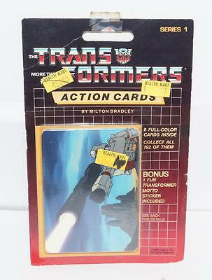 Megatron Sealed Pack Card #140 Transformers Trading Action Cards 1985 G1