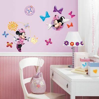 Roommates Mickey And Friends Minnie Bow-Tique Peel-And-Stick Wall Decals Girls