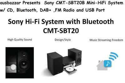 Sony CMT-SBT20B Mini-HiFi System w/ CD, Bluetooth, DAB+ ,FM Radio and USB Port
