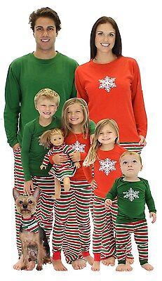 New Family Matching Christmas Pajamas Women Baby Kid Xmas Sleepwear Nightwear US