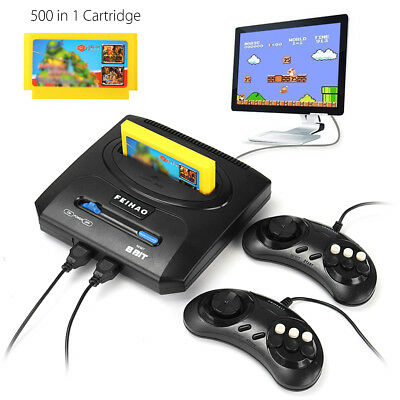 Vintage Classic TV Video Game Console 8 Bit 2 Gamepads With 500 in 1 Cartridge