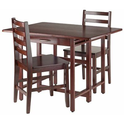 Winsome Taylor 3 Piece Drop Leaf Dining Set In Walnut