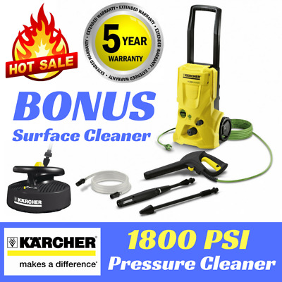 KARCHER HIGH PRESSURE WASHER 1800PSI 5YR WARRANTY BONUS Surface Cleaner K3.800