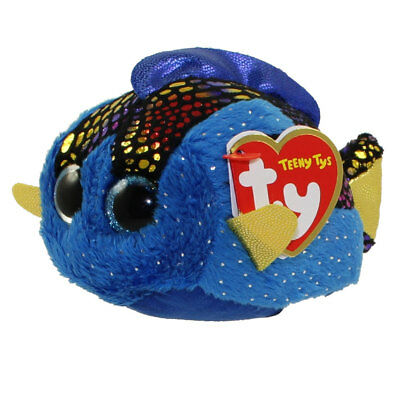 """TY Beanie Boos Teeny Tys 4"""" MADIE Blue Tang Stackable Plush Stuffed Animal Toy"""