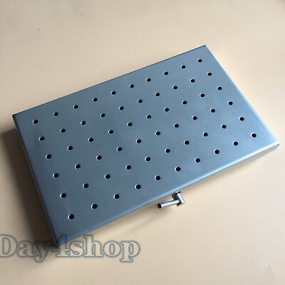 New Stainless steel sterilization tray case Middle Size surgical instrument