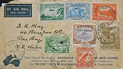 Australian Flight Cover - July 24 1934.aamc 390/1.syd-Moresby-Lae-Salamaua