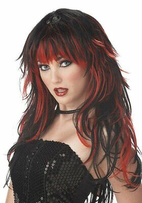 California Costumes Collections 70056 Tempting Tresses Wig (Red/Black;One Size)