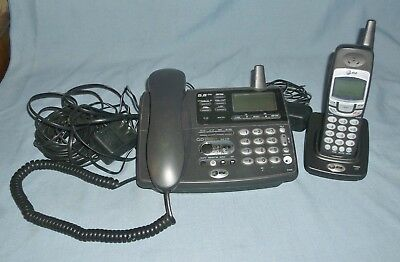 AT&T Telephone E5908 Answering System w/ Cordless Extension Works 5.8 GHz