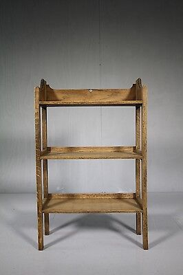 1920's Oak Open Bookcase by Heals : Two Availlable.